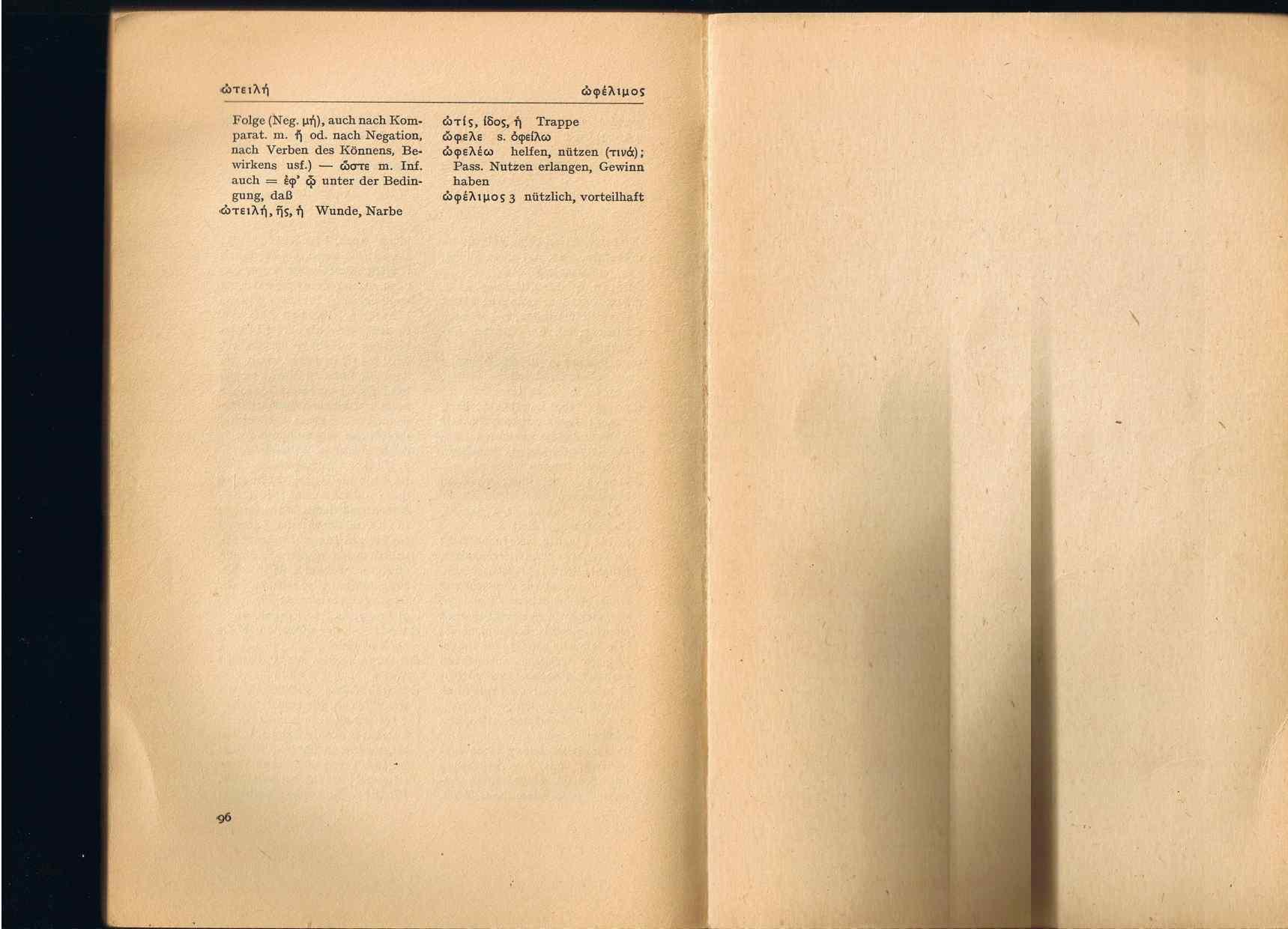 Scan der Wörterheft-Seite